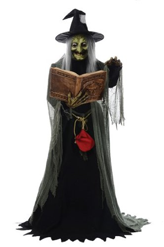Spell Speaking Witch Animated Prop Halloween Haunted House MR124250 by Mario Chiodo ()