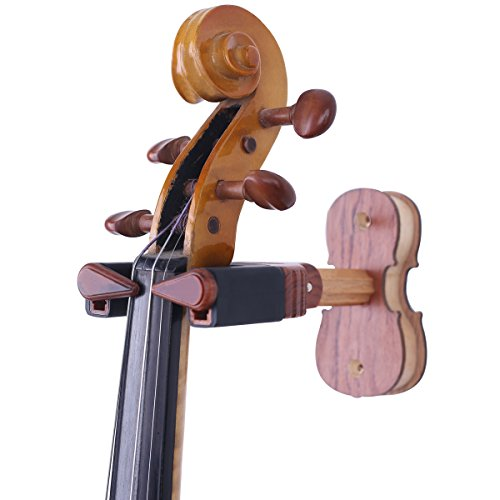 PUNK Wood Violin Auto Lock Hanger Creative Violin Shape Bade and Viola Hanger