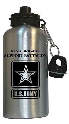 82nd Brigade Support Battalion - US Army Water Bottle Silver, 1027