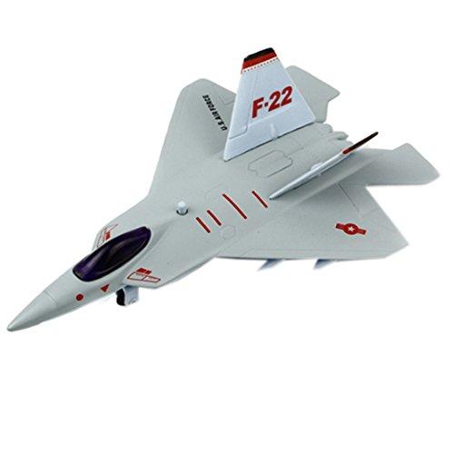 Kid's Toys Mini Alloy Airplane Models, F-22 Raptor Fighter, Random Color (F 22 Raptor Toy)