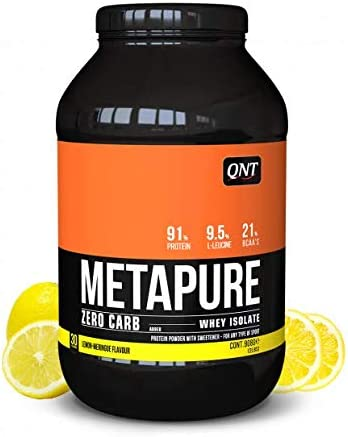 QNT Metapure Whey Protein Isolate Zero Carb Merengue de limón 908g