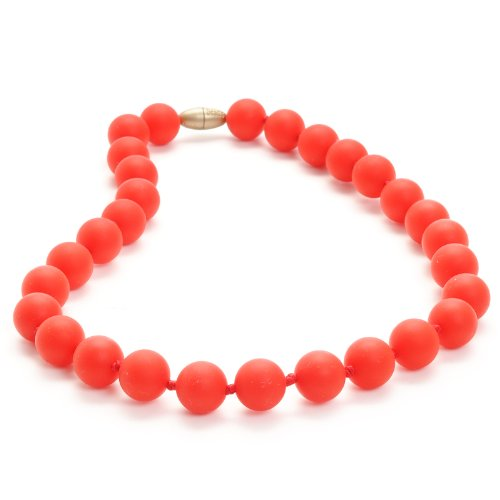 Juniorbeads by Chewbeads Jane Jr. Necklace, 100% Safe Silicone - Cherry Red