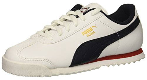 (PUMA Unisex Roma Basic PS Sneaker, White-Night Sky, 10.5 M US Little Kid)