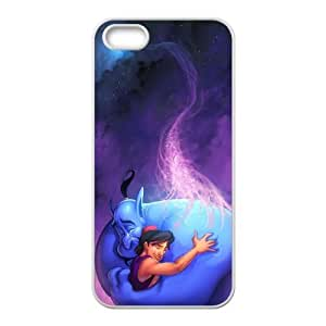 Disneys Aladdin and Jasmine Image On The iPhone 5 5s White Cell Phone Case AMW896113