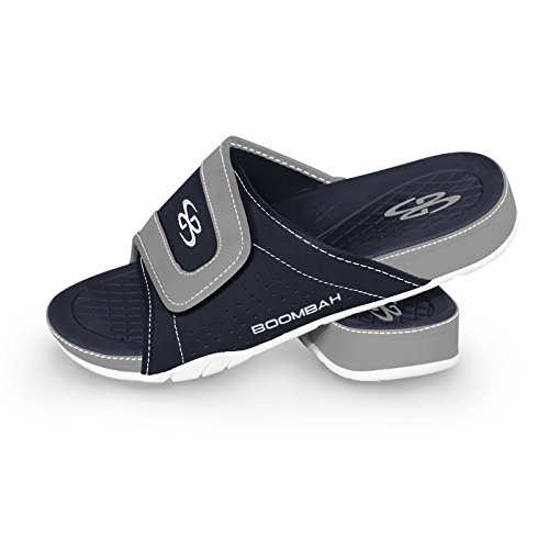 Boombah Mens Tyrant Slide Sandals - 32 Color Options - Multiple Sizes Navy/Gray 49ujtMil8
