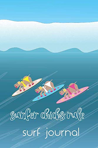 - Hippo Surfer Chicks Rule the Waves Surf Journal: Hawaiian style notebook with hippos on surfboards for avid surfer girls to log all your epic ocean ... lists for equipment essentials eg fins wax