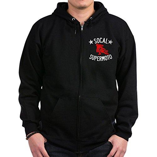 CafePress - Socal Supermoto Dark Shirt - Zip Hoodie, Classic Hooded Sweatshirt with Metal Zipper (Jacket Supermoto)