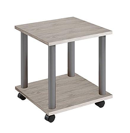 60 x 40 x 44.5 H Cm Rovere Chiaro Nobilitato FMD Stark H1 Tavolino