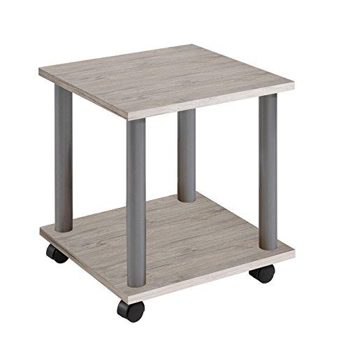 FMD Möbel – Mesa auxiliar con ruedas, madera, madera, Sand Oak, 60x40x44.5 cm