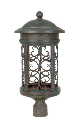 Designers Fountain 31136-MP Ellington-DS Post Lanterns, Mediterranean Patina by Designers Fountain
