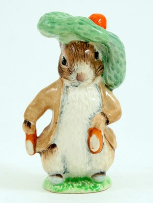 Beatrix Potter Benjamin Bunny Ears In, Shoes In Beswick (Potter Doulton Royal Beatrix)