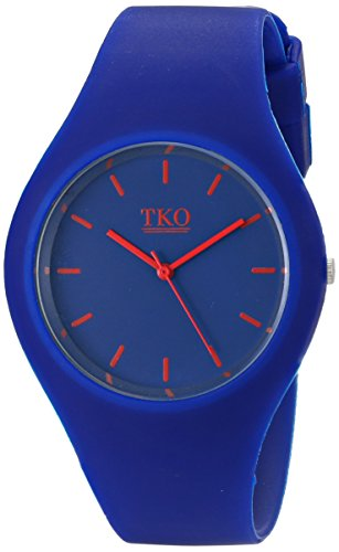 Quartz Bright Mens Watch (TKO ORLOGI ' Candy II' Quartz Metal and Rubber Casual Watch, Color:Blue (Model: TK643BL))