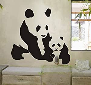 Home Decor, Wall Decals, Wall Stickers for Bedroom or Living Room Panda with Baby Panda Design for Switches