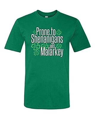 Panoware Men's ST Patricks Day T-Shirt | Prone To Shenanigans and Malarkey