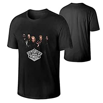 mens night ranger fashionable hip pop music band short sleeves t shirts gift clothing. Black Bedroom Furniture Sets. Home Design Ideas