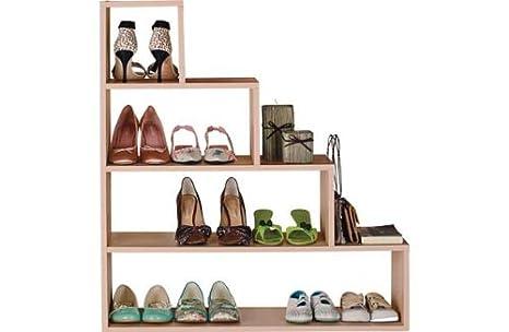 Meuble Chaussure Sous Escalier.Meuble A Chaussures Sous Escalier Effet Hetre Amazon Fr