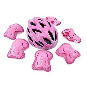 LHY RIDING Casco Ajustable para niños, Casco de Bicicleta para ...