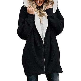 Amazon.com: YENJO Women Winter Fashion Casual Solid Front