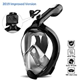 ORSEN Newest Version Full Face Snorkel Mask Foldable 180 Panoramic View Free Breathing Snorkeling Mask with Detachable Camera Mount,Anti-Fog Anti-Leak for Adults & Kids