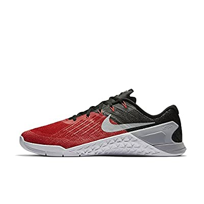 Nike Mens Metcon 3 Training Shoes Track University Red/Wolf Grey/Black 852928-600 Size 12
