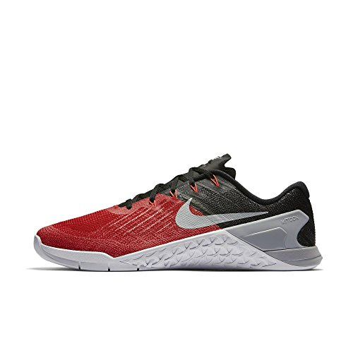 Nike Mens Metcon 3 Training Shoes Track University Red/Wolf Grey/Black 852928-600 Size 8.5 by NIKE
