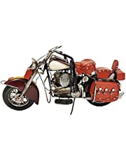 Carina's Collection Burgundy Motorcycle Metal Model