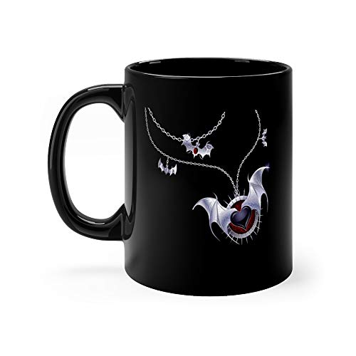 Silver Heart Of A Vampire Halloween Necklace Water Mug Ceramic Cup 11oz]()