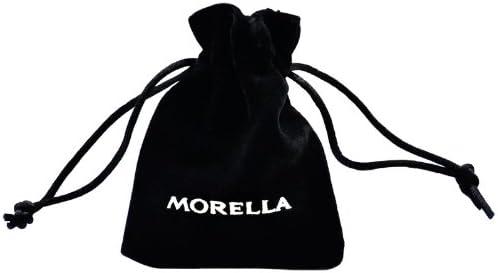 Morella Collier Femme en Acier Inoxydable 70 cm avec Charms Pendentif en Forme de cl/é pdor/é t-Bonheur dans Une Pochette en Velours