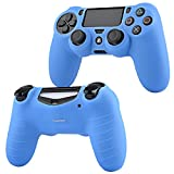 PS4 Controller Silicone Skin Case Cover, Insten Silicone Controller Skin Case Compatible With Sony PlayStation 4 PS4 Controller, Blue