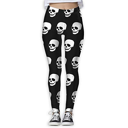 NO2XG Skull Smile Catmouflage Women's Full-Length Capri Pants Sports Pants by NO2XG