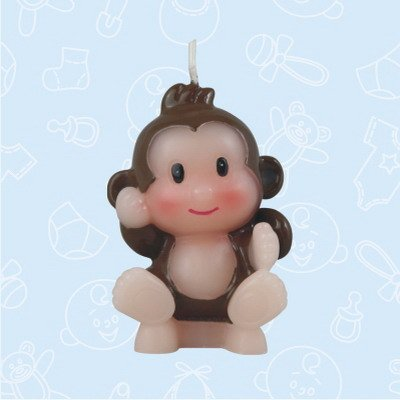 48 Baby Shower Baby Boy Safari Monkey Candle Favor in Box Favors Gift Keepsake Favor