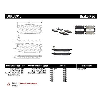 StopTech 309.08910 Street Performance Rear Brake Pad: Automotive