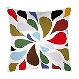 NUWFOR Print Pillow Case Polyester Sofa Car Cushion Cover Home Decor(H)