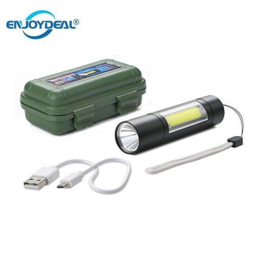 AMZVASO - Mini COB LED Flashlight Torch USB Rechargeable 2000LM XPE COB LED Work Light Lamp Penlight Camping Lanterna