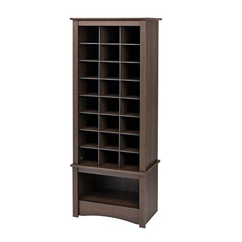 (Prepac Espresso Tall Shoe Cubbie Cabinet)