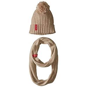 Calvin Klein Women's Pom Hat and Loop 2 Piece Set