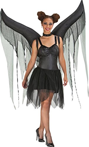 Morris Costumes Halloween Wings night fairy (Black Inflatable Adult Costumes)