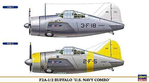 (1/72 F2A-1/2 Buffalo USN Combo)