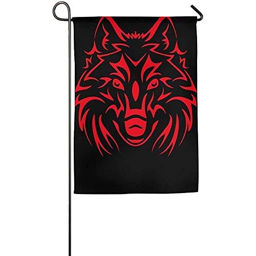 Street Sport Red Wolf Head Garden Flag Indoor Outdoor Decora