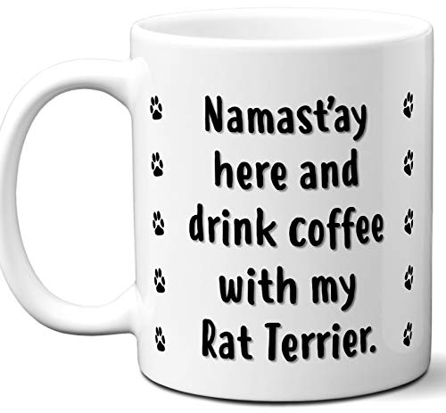 Funny Dog Lover Gifts For Men and Women. Rat Terrier Mug Coffee Tea Cup. Dog Themed Present Dog Mom Dog Dad Dog Owner Men Girls Groomer Xmas Birthday Mother