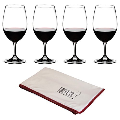 Riedel Ouverture Magnum 8 Piece Wine Glass Set with Microfiber Cleaning Cloth by Riedel