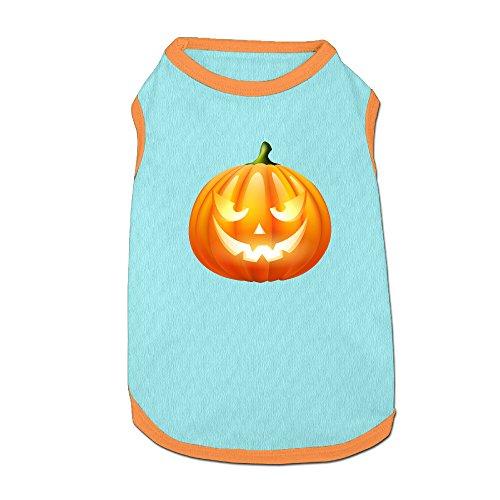 Cute Halloween Pumpkin Clipart (Mushanxiang Halloween Pumpkin PNG Clipart Image Summer Cute Sleeveless Puppy Pet Kitty T-Shirt Pet Clothes Petwear For Cat Dog S)