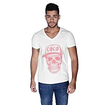 Creo Watermelon Coco Skull T-Shirt For Men - L, White