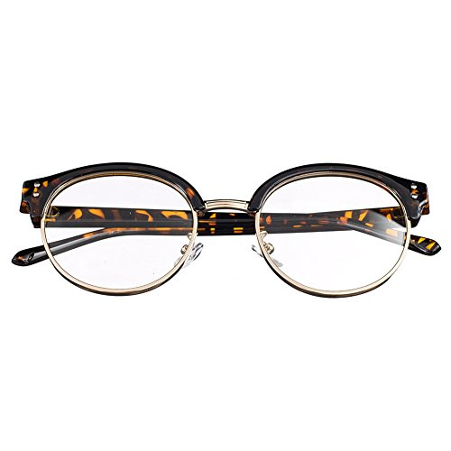 Bi Tao Transition Lens Photochromic Brown Reading Glasses 2.00 Strengths Men Women Fashion Half Frame Reading - Prescription Lenses Transition Non