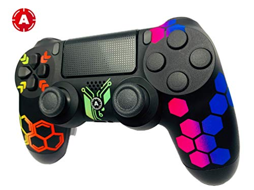 AimControllers PS4 Custom Wireless Controller, Playstation 4 Personalized Gamepad with 4 Paddles - Hive 3