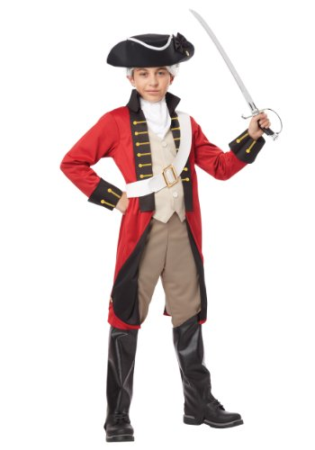 British Red Coat Costume (California Costumes British Redcoat Child Costume, X-Large)