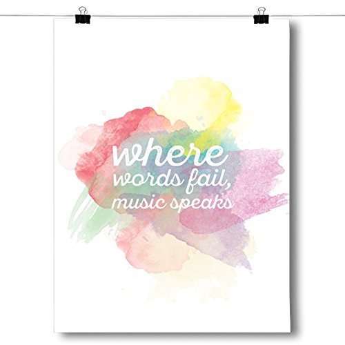 Inspired Posters Where Words Fail, Music Speaks Poster