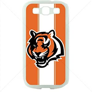 NFL American football Cincinnati Bengals Samsung Galaxy S3 SIII I9300 TPU Soft Black or White case (White)