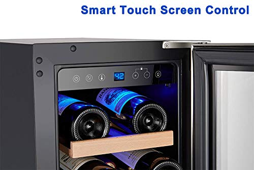Wine Cooler, Built-in or Freestanding, AMZCHEF 19 Bottle Wine Refrigerator, Quiet, Constant Temperature, Energy Efficient by AMZCHEF (Image #4)