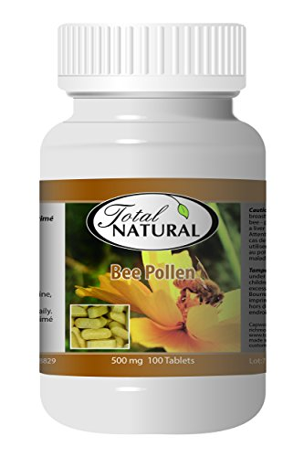 Bee Pollen 500mg 100ct - [12 bottles] Immunity Improvement by Total Natural